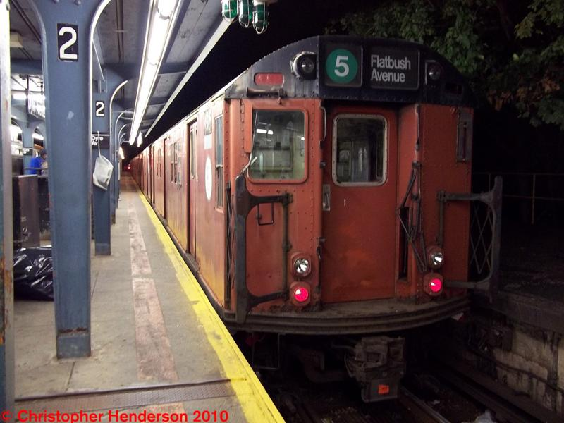 (66k, 800x600)<br><b>Country:</b> United States<br><b>City:</b> New York<br><b>System:</b> New York City Transit<br><b>Line:</b> IRT Dyre Ave. Line<br><b>Location:</b> Dyre Avenue <br><b>Route:</b> Work Service<br><b>Car:</b> R-28 (American Car & Foundry, 1960-61) 7925 <br><b>Photo by:</b> Christopher Henderson<br><b>Date:</b> 10/23/2010<br><b>Notes:</b> Rail Adhesion train.<br><b>Viewed (this week/total):</b> 2 / 1186
