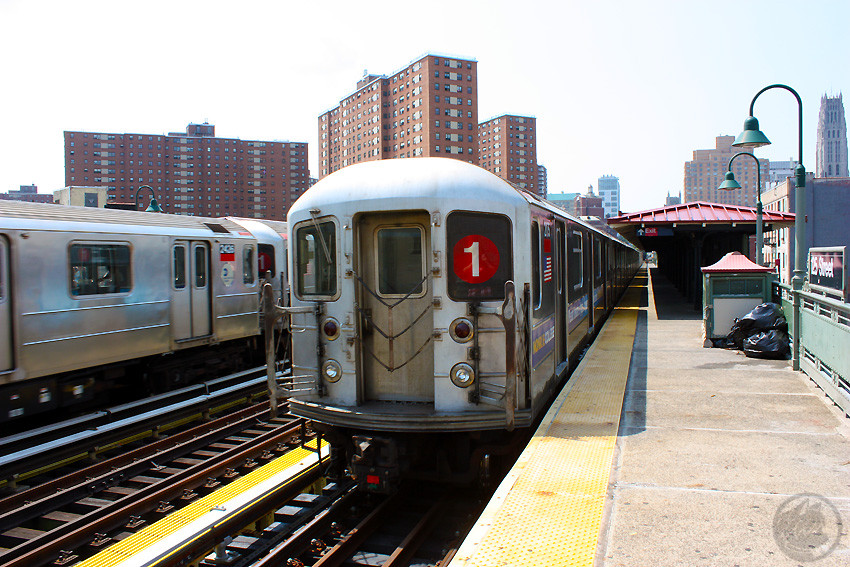 (249k, 850x567)<br><b>Country:</b> United States<br><b>City:</b> New York<br><b>System:</b> New York City Transit<br><b>Line:</b> IRT West Side Line<br><b>Location:</b> 125th Street <br><b>Route:</b> 1<br><b>Car:</b> R-62A (Bombardier, 1984-1987)  2175 <br><b>Photo by:</b> Jon Lebowitz<br><b>Date:</b> 8/8/2010<br><b>Viewed (this week/total):</b> 1 / 548
