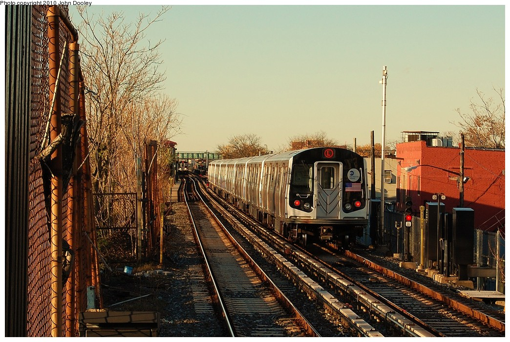 (313k, 1044x701)<br><b>Country:</b> United States<br><b>City:</b> New York<br><b>System:</b> New York City Transit<br><b>Line:</b> BMT Canarsie Line<br><b>Location:</b> Sutter Avenue <br><b>Route:</b> L<br><b>Car:</b> R-143 (Kawasaki, 2001-2002) 8101 <br><b>Photo by:</b> John Dooley<br><b>Date:</b> 10/28/2010<br><b>Viewed (this week/total):</b> 1 / 421