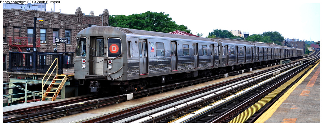 (219k, 1044x409)<br><b>Country:</b> United States<br><b>City:</b> New York<br><b>System:</b> New York City Transit<br><b>Line:</b> BMT West End Line<br><b>Location:</b> 50th Street <br><b>Route:</b> D<br><b>Car:</b> R-68 (Westinghouse-Amrail, 1986-1988)  2696 <br><b>Photo by:</b> Zach Summer<br><b>Date:</b> 7/6/2010<br><b>Viewed (this week/total):</b> 1 / 400