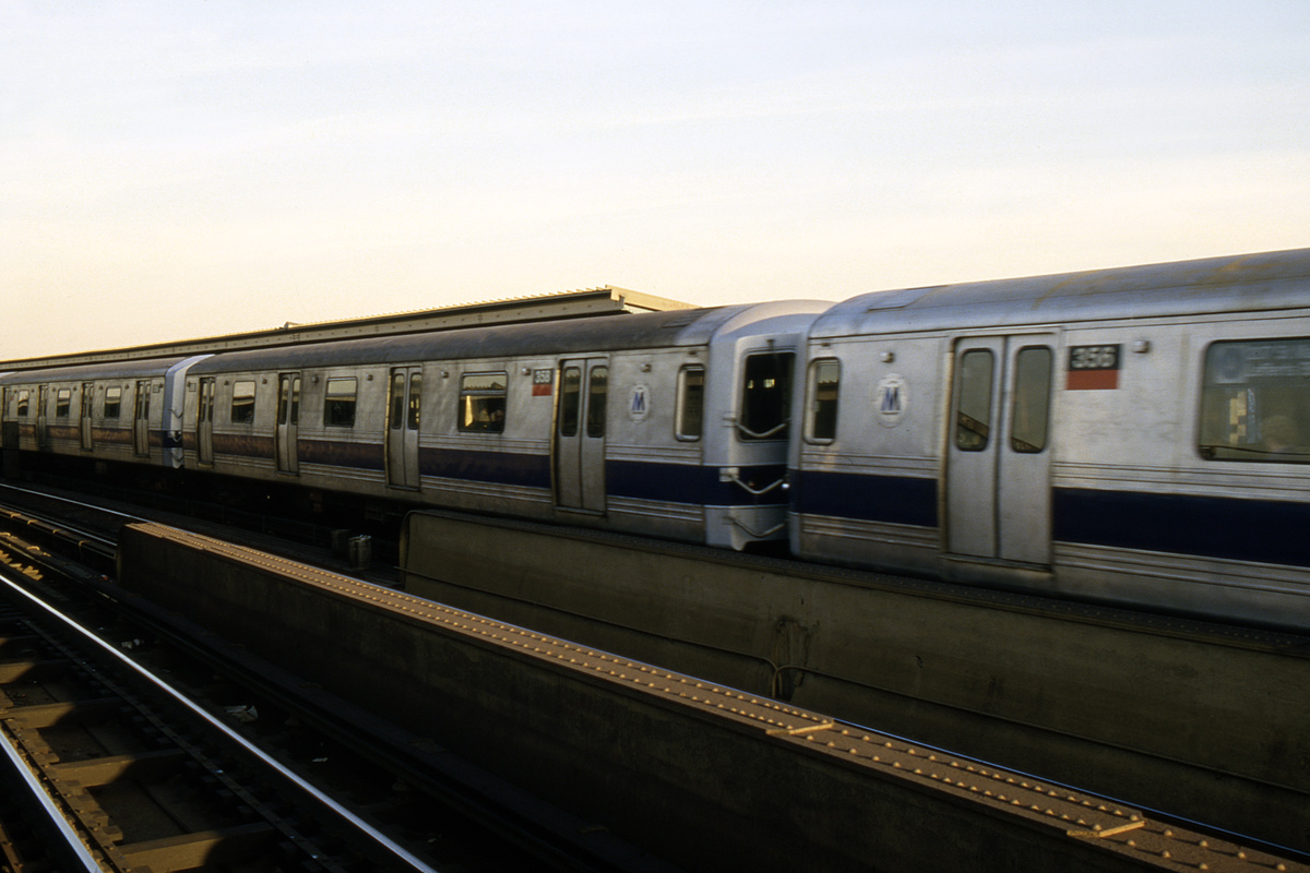 (180k, 1024x682)<br><b>Country:</b> United States<br><b>City:</b> New York<br><b>System:</b> New York City Transit<br><b>Line:</b> IND Fulton Street Line<br><b>Location:</b> Rockaway Boulevard <br><b>Route:</b> A<br><b>Car:</b> R-44 (St. Louis, 1971-73) 358 <br><b>Collection of:</b> Collection of nycsubway.org <br><b>Notes:</b> 1980s<br><b>Viewed (this week/total):</b> 2 / 1175