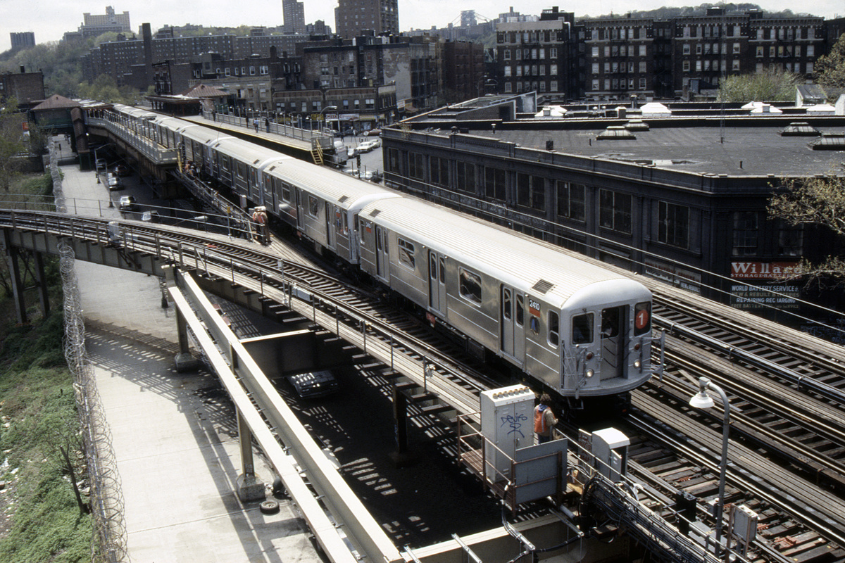(339k, 1024x690)<br><b>Country:</b> United States<br><b>City:</b> New York<br><b>System:</b> New York City Transit<br><b>Line:</b> IRT West Side Line<br><b>Location:</b> 207th Street <br><b>Route:</b> 1<br><b>Car:</b> R-62A (Bombardier, 1984-1987)  2410 <br><b>Collection of:</b> Collection of nycsubway.org <br><b>Notes:</b> 1980s<br><b>Viewed (this week/total):</b> 9 / 2715