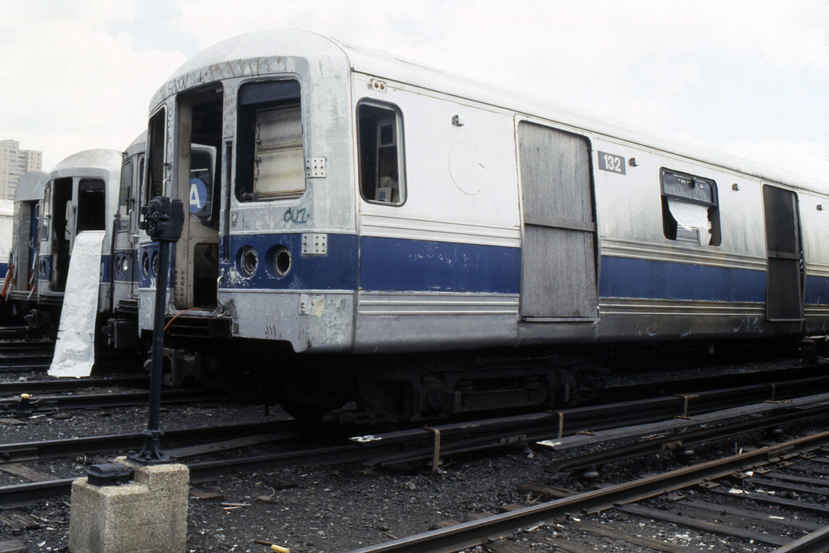 (231k, 1024x688)<br><b>Country:</b> United States<br><b>City:</b> New York<br><b>System:</b> New York City Transit<br><b>Location:</b> Coney Island Yard<br><b>Car:</b> R-44 (St. Louis, 1971-73) 132 <br><b>Collection of:</b> Collection of nycsubway.org <br><b>Notes:</b> 1980s<br><b>Viewed (this week/total):</b> 4 / 1809