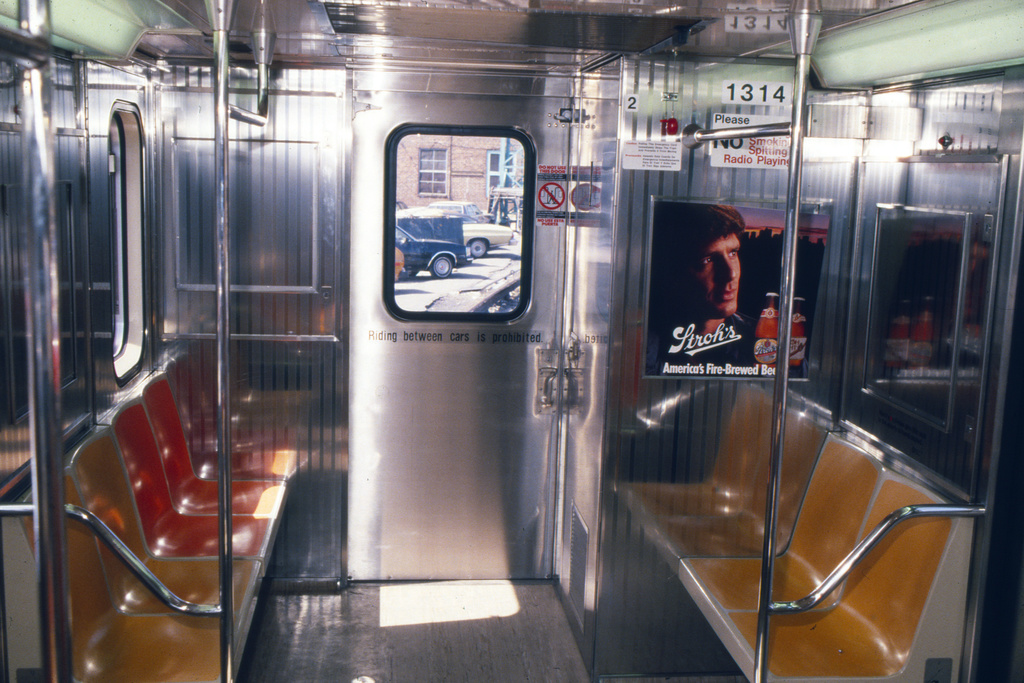 (235k, 1024x692)<br><b>Country:</b> United States<br><b>City:</b> New York<br><b>System:</b> New York City Transit<br><b>Car:</b> R-62 (Kawasaki, 1983-1985)  1314 <br><b>Collection of:</b> Collection of nycsubway.org <br><b>Notes:</b> 1980s<br><b>Viewed (this week/total):</b> 0 / 1833
