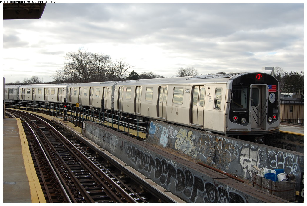 (271k, 1044x699)<br><b>Country:</b> United States<br><b>City:</b> New York<br><b>System:</b> New York City Transit<br><b>Line:</b> BMT Nassau Street/Jamaica Line<br><b>Location:</b> Cypress Hills <br><b>Route:</b> J<br><b>Car:</b> R-160A-1 (Alstom, 2005-2008, 4 car sets)  8345 <br><b>Photo by:</b> John Dooley<br><b>Date:</b> 12/14/2010<br><b>Viewed (this week/total):</b> 1 / 362