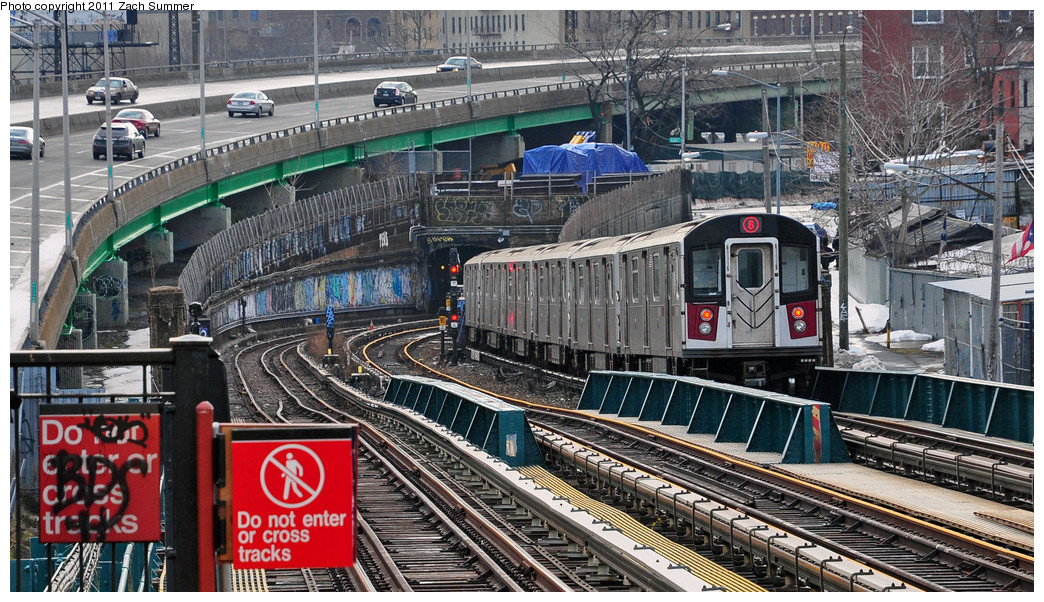 (335k, 1044x602)<br><b>Country:</b> United States<br><b>City:</b> New York<br><b>System:</b> New York City Transit<br><b>Line:</b> IRT Pelham Line<br><b>Location:</b> Whitlock Avenue <br><b>Route:</b> 6<br><b>Car:</b> R-142A (Primary Order, Kawasaki, 1999-2002)  7236 <br><b>Photo by:</b> Zach Summer<br><b>Date:</b> 1/2/2011<br><b>Viewed (this week/total):</b> 0 / 1085