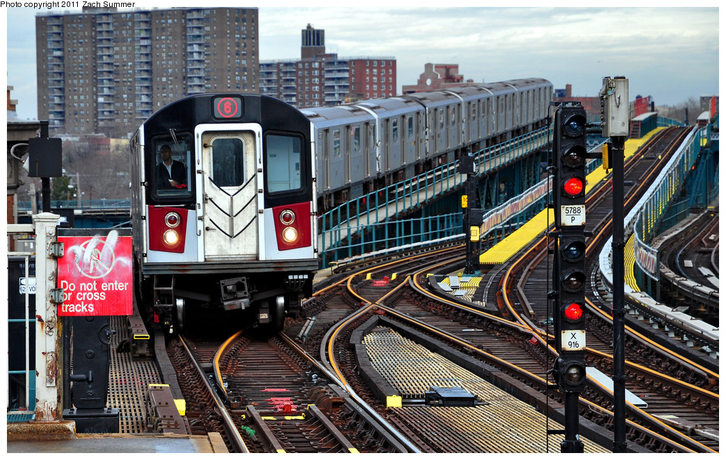 (351k, 1044x662)<br><b>Country:</b> United States<br><b>City:</b> New York<br><b>System:</b> New York City Transit<br><b>Line:</b> IRT Pelham Line<br><b>Location:</b> Westchester Square <br><b>Route:</b> 6<br><b>Car:</b> R-142A (Primary Order, Kawasaki, 1999-2002)  7330 <br><b>Photo by:</b> Zach Summer<br><b>Date:</b> 1/2/2011<br><b>Viewed (this week/total):</b> 0 / 765