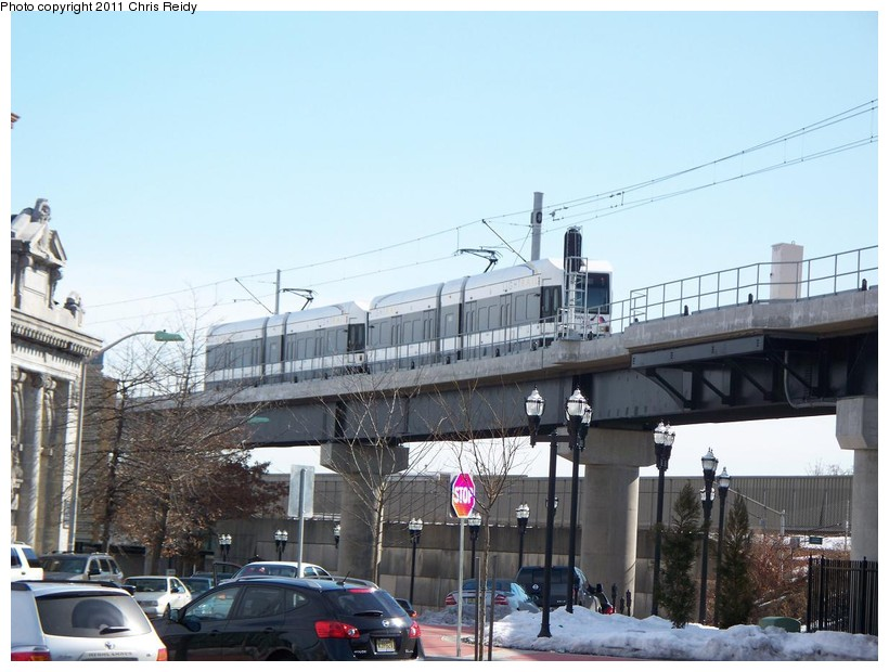 (138k, 820x620)<br><b>Country:</b> United States<br><b>City:</b> Jersey City, NJ<br><b>System:</b> Hudson Bergen Light Rail<br><b>Location:</b> Bayonne 8th Street <br><b>Car:</b> NJT-HBLR LRV (Kinki-Sharyo, 1998-99)  2005 <br><b>Photo by:</b> Chris Reidy<br><b>Date:</b> 2/9/2011<br><b>Viewed (this week/total):</b> 2 / 698