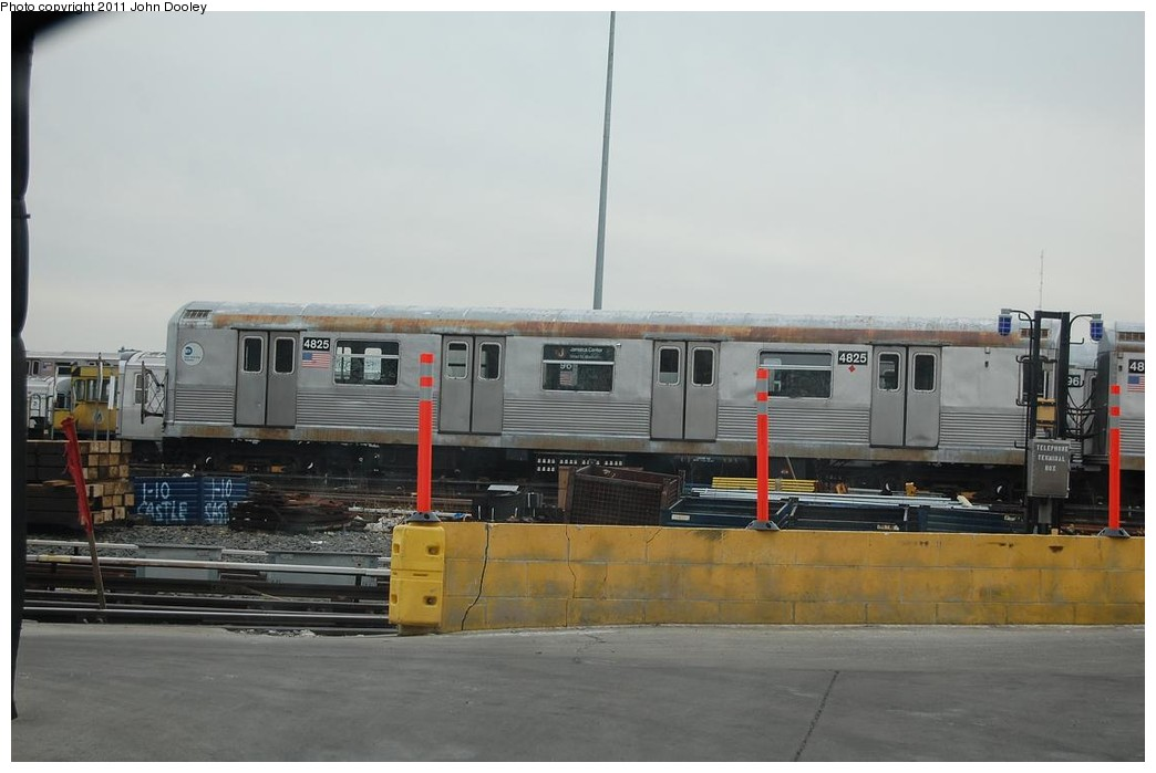 (166k, 1044x699)<br><b>Country:</b> United States<br><b>City:</b> New York<br><b>System:</b> New York City Transit<br><b>Location:</b> East New York Yard/Shops<br><b>Car:</b> R-42 (St. Louis, 1969-1970)  4825 <br><b>Photo by:</b> John Dooley<br><b>Date:</b> 12/16/2010<br><b>Viewed (this week/total):</b> 0 / 600