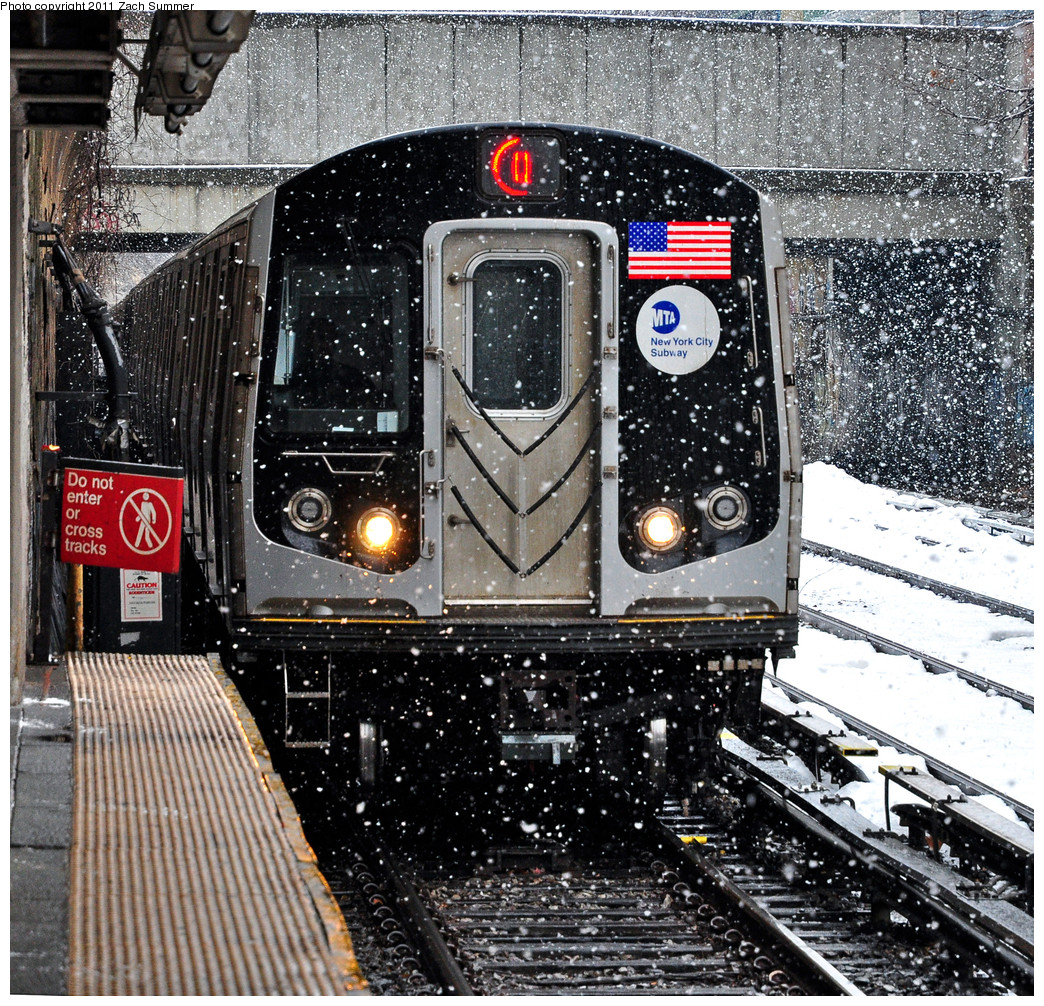 (533k, 1044x1006)<br><b>Country:</b> United States<br><b>City:</b> New York<br><b>System:</b> New York City Transit<br><b>Line:</b> BMT Brighton Line<br><b>Location:</b> Cortelyou Road <br><b>Route:</b> Q<br><b>Car:</b> R-160A/R-160B Series (Number Unknown)  <br><b>Photo by:</b> Zach Summer<br><b>Date:</b> 1/7/2011<br><b>Viewed (this week/total):</b> 2 / 550