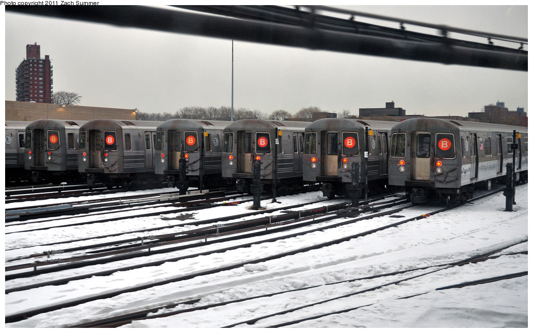 (231k, 1044x653)<br><b>Country:</b> United States<br><b>City:</b> New York<br><b>System:</b> New York City Transit<br><b>Location:</b> Coney Island Yard<br><b>Route:</b> B layups<br><b>Car:</b> R-68/R-68A Series (Number Unknown)  <br><b>Photo by:</b> Zach Summer<br><b>Date:</b> 1/8/2011<br><b>Viewed (this week/total):</b> 4 / 1899