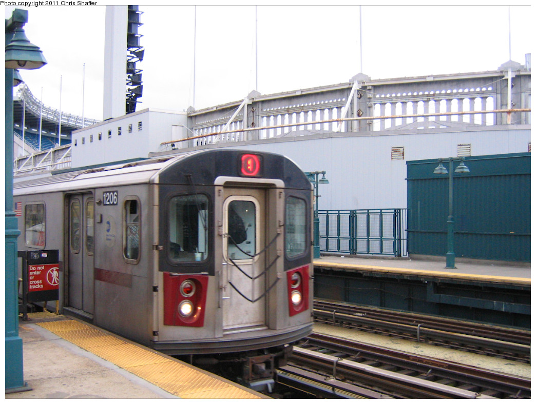 (257k, 1044x788)<br><b>Country:</b> United States<br><b>City:</b> New York<br><b>System:</b> New York City Transit<br><b>Line:</b> IRT Woodlawn Line<br><b>Location:</b> 161st Street/River Avenue (Yankee Stadium) <br><b>Route:</b> 4<br><b>Car:</b> R-142 (Option Order, Bombardier, 2002-2003)  1206 <br><b>Photo by:</b> Chris C. Shaffer<br><b>Date:</b> 1/15/2008<br><b>Viewed (this week/total):</b> 1 / 770