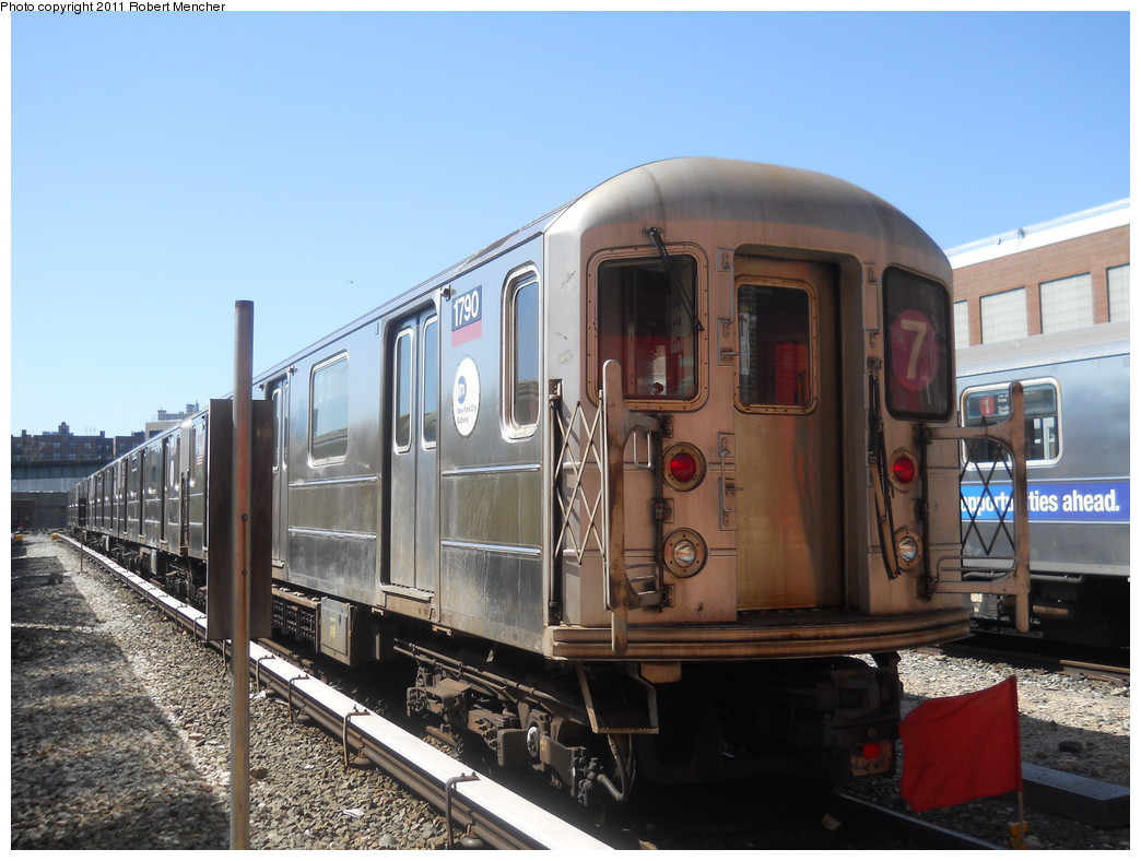 (258k, 1044x788)<br><b>Country:</b> United States<br><b>City:</b> New York<br><b>System:</b> New York City Transit<br><b>Location:</b> 207th Street Yard<br><b>Car:</b> R-62A (Bombardier, 1984-1987)  1790 <br><b>Photo by:</b> Robert Mencher<br><b>Date:</b> 3/27/2011<br><b>Viewed (this week/total):</b> 0 / 401