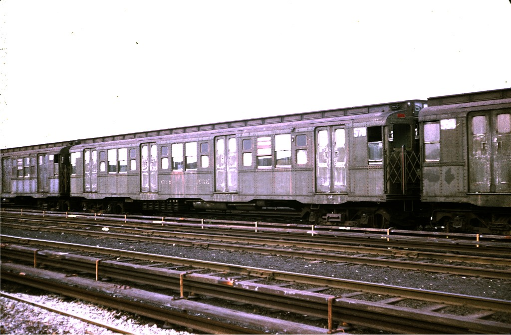 (197k, 1024x671)<br><b>Country:</b> United States<br><b>City:</b> New York<br><b>System:</b> New York City Transit<br><b>Location:</b> Coney Island Yard<br><b>Car:</b> R-4 (American Car & Foundry, 1932-1933) 578 <br><b>Photo by:</b> Steve Zabel<br><b>Collection of:</b> Joe Testagrose<br><b>Date:</b> 4/29/1972<br><b>Viewed (this week/total):</b> 3 / 339