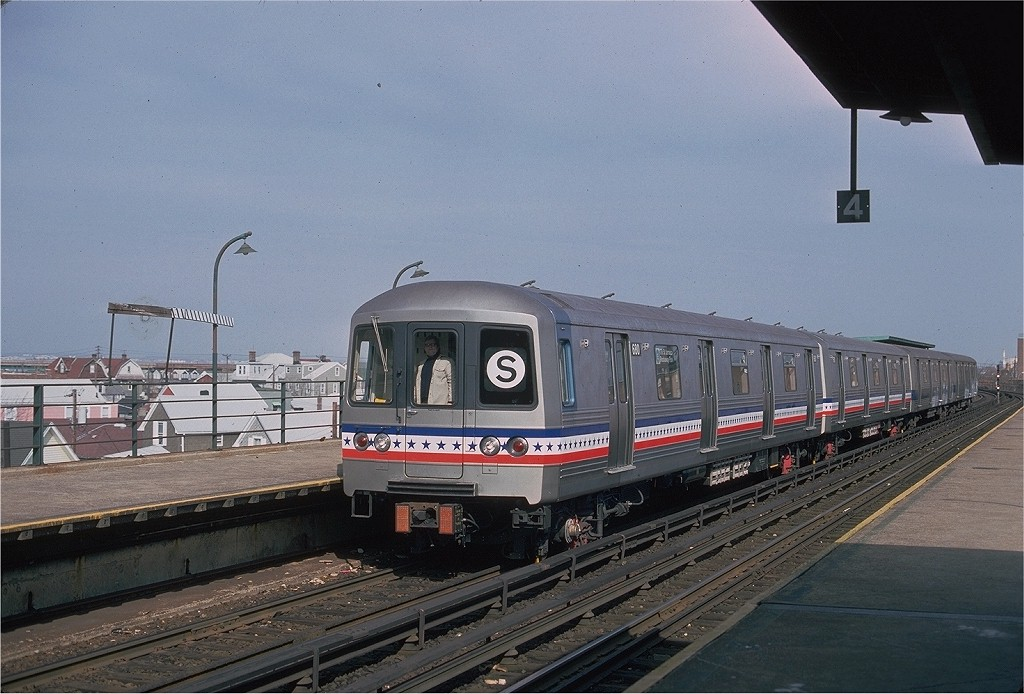 (192k, 1024x694)<br><b>Country:</b> United States<br><b>City:</b> New York<br><b>System:</b> New York City Transit<br><b>Line:</b> IND Rockaway<br><b>Location:</b> Beach 90th Street/Holland <br><b>Route:</b> Fan Trip<br><b>Car:</b> R-46 (Pullman-Standard, 1974-75) 680 <br><b>Photo by:</b> Ed McKernan<br><b>Collection of:</b> Joe Testagrose<br><b>Date:</b> 2/26/1977<br><b>Viewed (this week/total):</b> 1 / 408