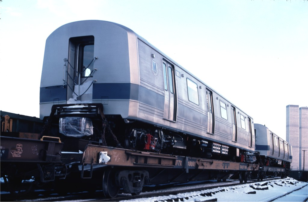 (116k, 1024x672)<br><b>Country:</b> United States<br><b>City:</b> Hoboken, NJ<br><b>System:</b> New York City Transit<br><b>Location:</b> Hoboken Yard <br><b>Car:</b> R-46 (Pullman-Standard, 1974-75) 889 <br><b>Photo by:</b> Ed McKernan<br><b>Collection of:</b> Joe Testagrose<br><b>Date:</b> 12/27/1976<br><b>Viewed (this week/total):</b> 0 / 185
