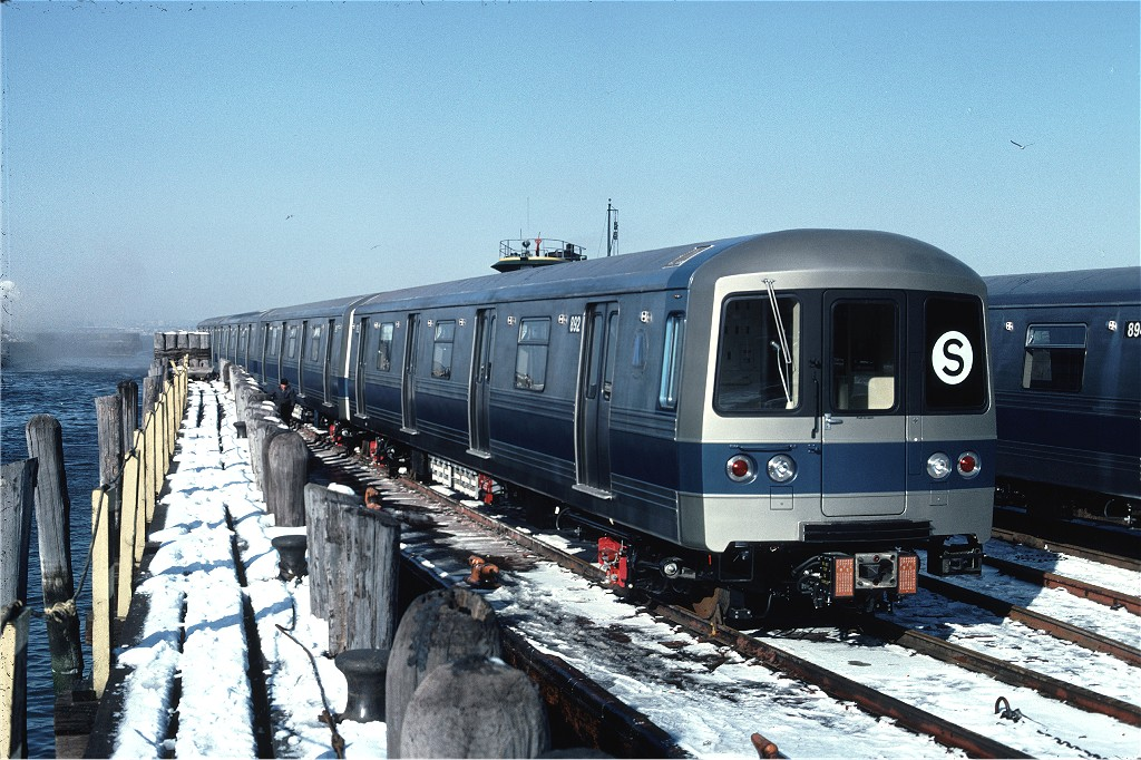 (235k, 1024x682)<br><b>Country:</b> United States<br><b>City:</b> New York<br><b>System:</b> New York City Transit<br><b>Line:</b> South Brooklyn Railway<br><b>Location:</b> SBK Yard (2nd Ave at 38th St.) (SBK)<br><b>Car:</b> R-46 (Pullman-Standard, 1974-75) 892 <br><b>Photo by:</b> Ed McKernan<br><b>Collection of:</b> Joe Testagrose<br><b>Date:</b> 12/30/1976<br><b>Notes:</b> Carfloat<br><b>Viewed (this week/total):</b> 0 / 565