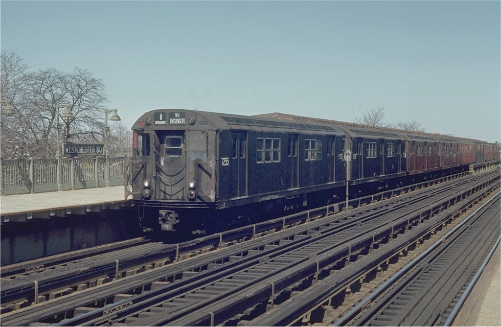 (185k, 1024x668)<br><b>Country:</b> United States<br><b>City:</b> New York<br><b>System:</b> New York City Transit<br><b>Line:</b> IRT Pelham Line<br><b>Location:</b> Westchester Square <br><b>Route:</b> 6<br><b>Car:</b> R-21 (St. Louis, 1956-57) 7255 <br><b>Photo by:</b> Joe Testagrose<br><b>Date:</b> 4/12/1970<br><b>Viewed (this week/total):</b> 0 / 1978