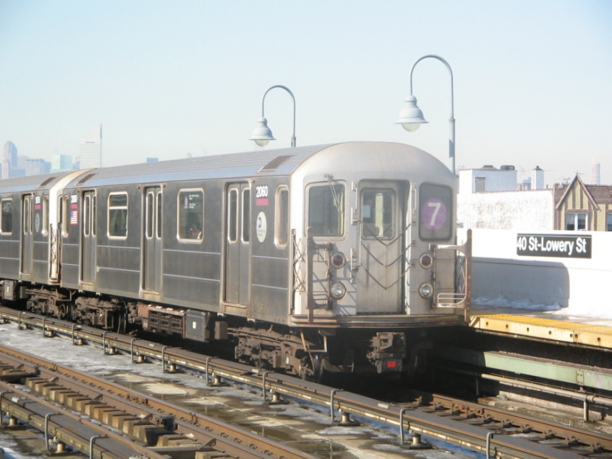 (242k, 864x648)<br><b>Country:</b> United States<br><b>City:</b> New York<br><b>System:</b> New York City Transit<br><b>Line:</b> IRT Flushing Line<br><b>Location:</b> 40th Street/Lowery Street <br><b>Route:</b> 7<br><b>Car:</b> R-62A (Bombardier, 1984-1987)  2060 <br><b>Photo by:</b> Jose Martinez<br><b>Date:</b> 2/1/2005<br><b>Viewed (this week/total):</b> 0 / 2347
