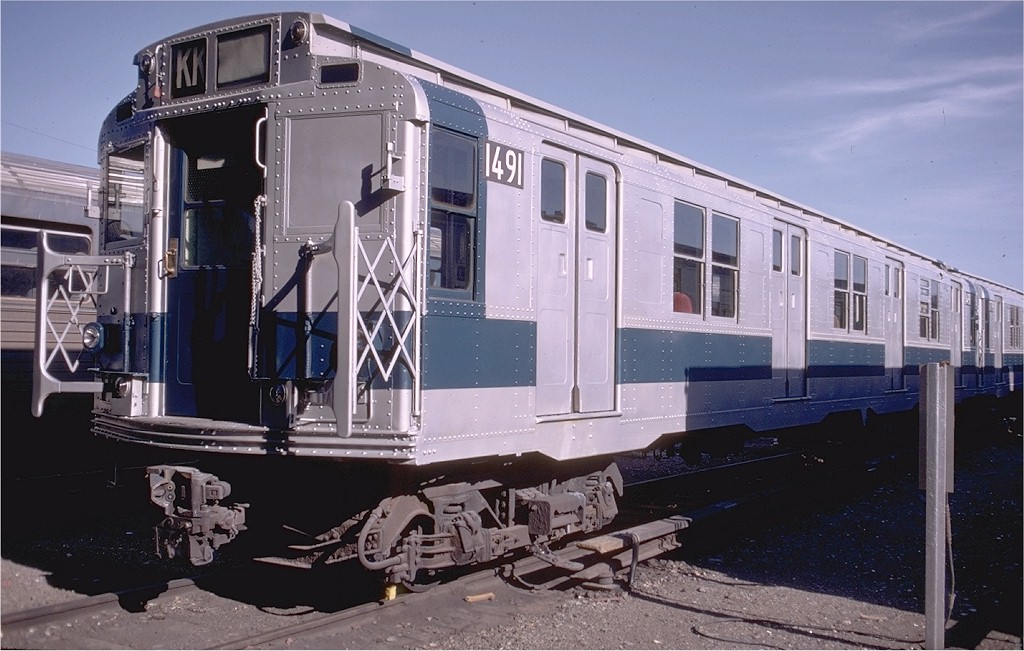 (184k, 1024x651)<br><b>Country:</b> United States<br><b>City:</b> New York<br><b>System:</b> New York City Transit<br><b>Location:</b> Coney Island Yard<br><b>Car:</b> R-7 (Pullman, 1937)  1491 <br><b>Photo by:</b> Doug Grotjahn<br><b>Collection of:</b> Joe Testagrose<br><b>Date:</b> 7/18/1971<br><b>Viewed (this week/total):</b> 5 / 2531