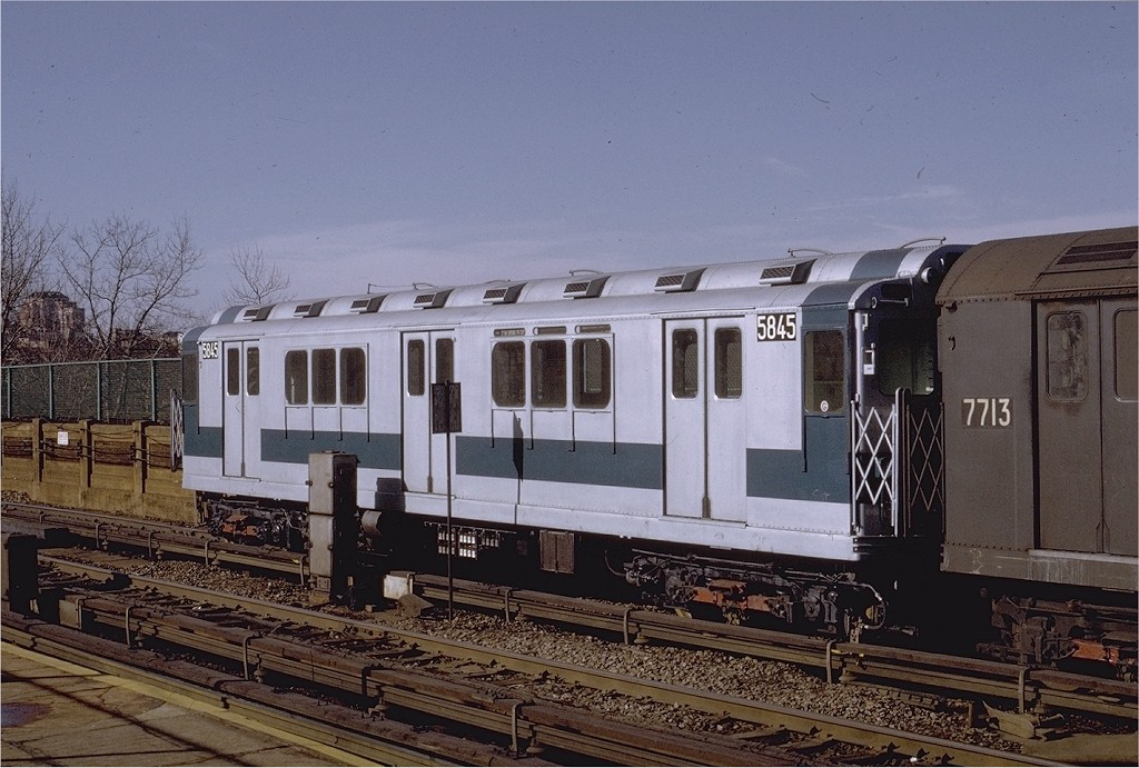 (202k, 1024x691)<br><b>Country:</b> United States<br><b>City:</b> New York<br><b>System:</b> New York City Transit<br><b>Line:</b> IRT Woodlawn Line<br><b>Location:</b> Bedford Park Boulevard <br><b>Car:</b> R-14 (American Car & Foundry, 1949) 5845 <br><b>Photo by:</b> Joe Testagrose<br><b>Date:</b> 1/30/1971<br><b>Viewed (this week/total):</b> 4 / 3633