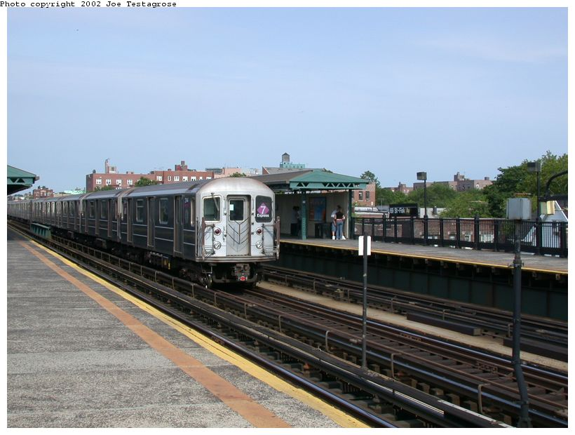 (118k, 820x620)<br><b>Country:</b> United States<br><b>City:</b> New York<br><b>System:</b> New York City Transit<br><b>Line:</b> IRT Flushing Line<br><b>Location:</b> 69th Street/Fisk Avenue <br><b>Route:</b> 7<br><b>Car:</b> R-62A (Bombardier, 1984-1987)  2144 <br><b>Photo by:</b> Joe Testagrose<br><b>Date:</b> 6/4/2002<br><b>Viewed (this week/total):</b> 2 / 2241