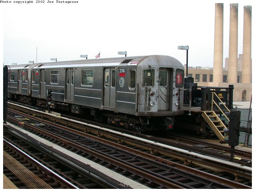 (89k, 820x620)<br><b>Country:</b> United States<br><b>City:</b> New York<br><b>System:</b> New York City Transit<br><b>Line:</b> IRT West Side Line<br><b>Location:</b> 215th Street <br><b>Route:</b> 1<br><b>Car:</b> R-62A (Bombardier, 1984-1987)  2316 <br><b>Photo by:</b> Joe Testagrose<br><b>Date:</b> 5/26/2002<br><b>Viewed (this week/total):</b> 2 / 3401