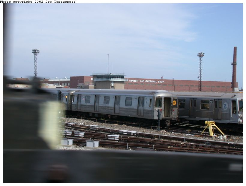 (91k, 820x620)<br><b>Country:</b> United States<br><b>City:</b> New York<br><b>System:</b> New York City Transit<br><b>Location:</b> Coney Island Yard<br><b>Car:</b> R-68 (Westinghouse-Amrail, 1986-1988)  2804 <br><b>Photo by:</b> Joe Testagrose<br><b>Date:</b> 9/22/2002<br><b>Viewed (this week/total):</b> 1 / 3228