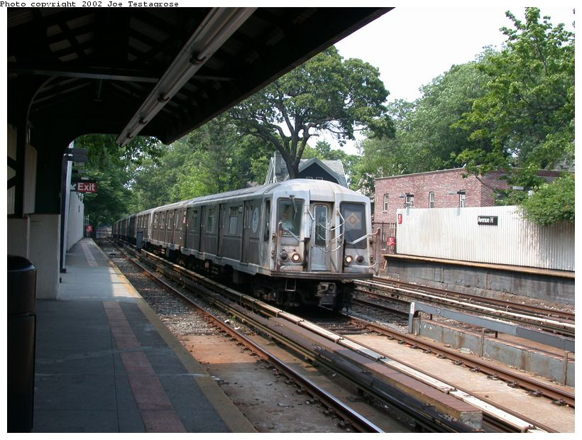 (148k, 820x620)<br><b>Country:</b> United States<br><b>City:</b> New York<br><b>System:</b> New York City Transit<br><b>Line:</b> BMT Brighton Line<br><b>Location:</b> Avenue H <br><b>Route:</b> Q<br><b>Car:</b> R-40 (St. Louis, 1968)  4311 <br><b>Photo by:</b> Joe Testagrose<br><b>Date:</b> 6/11/2002<br><b>Viewed (this week/total):</b> 0 / 2780