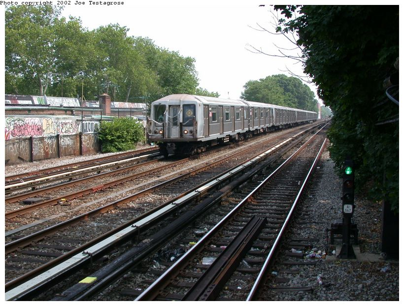 (165k, 820x620)<br><b>Country:</b> United States<br><b>City:</b> New York<br><b>System:</b> New York City Transit<br><b>Line:</b> BMT Brighton Line<br><b>Location:</b> Avenue J <br><b>Route:</b> Q<br><b>Car:</b> R-40 (St. Louis, 1968)  4319 <br><b>Photo by:</b> Joe Testagrose<br><b>Date:</b> 6/11/2002<br><b>Viewed (this week/total):</b> 1 / 3146
