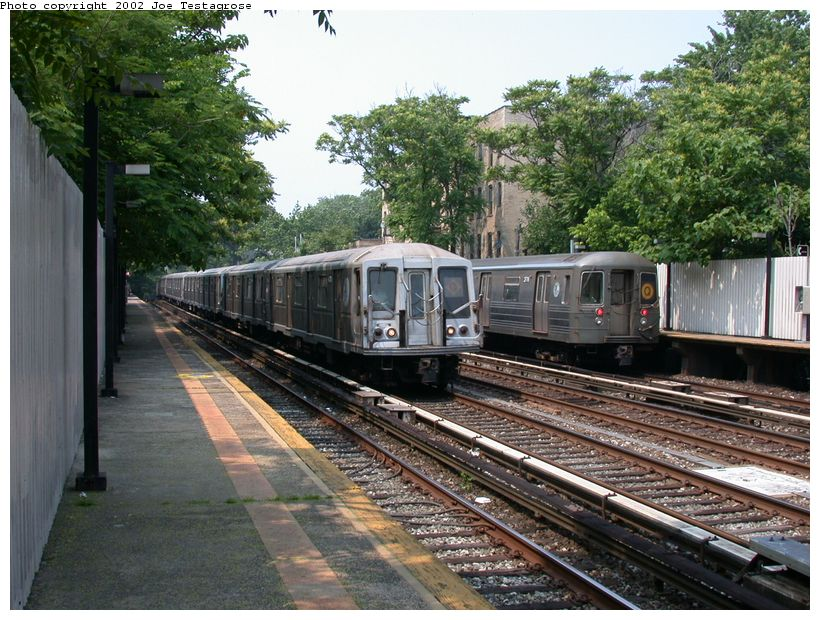 (158k, 820x620)<br><b>Country:</b> United States<br><b>City:</b> New York<br><b>System:</b> New York City Transit<br><b>Line:</b> BMT Brighton Line<br><b>Location:</b> Avenue H <br><b>Route:</b> Q<br><b>Car:</b> R-40 (St. Louis, 1968)  4328 <br><b>Photo by:</b> Joe Testagrose<br><b>Date:</b> 6/11/2002<br><b>Viewed (this week/total):</b> 1 / 3259