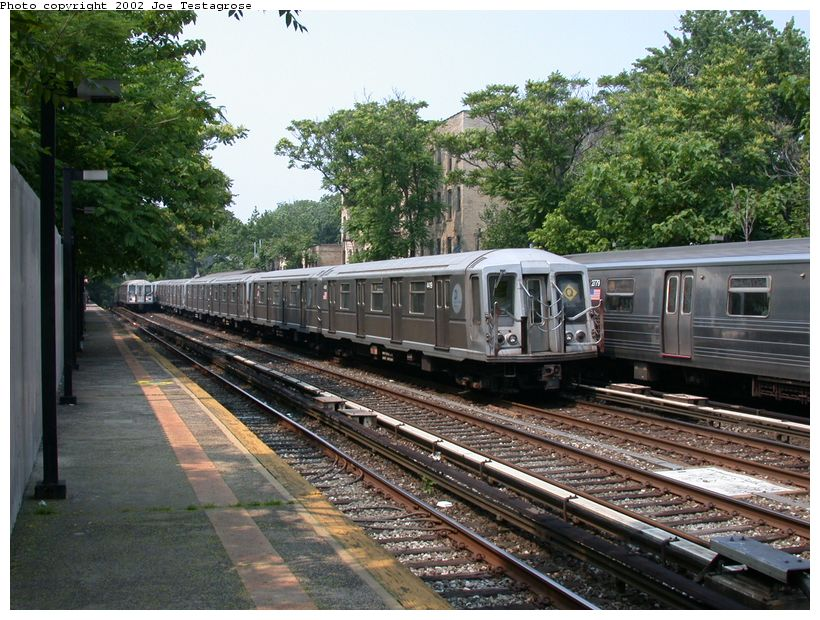 (160k, 820x620)<br><b>Country:</b> United States<br><b>City:</b> New York<br><b>System:</b> New York City Transit<br><b>Line:</b> BMT Brighton Line<br><b>Location:</b> Avenue H <br><b>Route:</b> Q<br><b>Car:</b> R-40 (St. Louis, 1968)  4419 <br><b>Photo by:</b> Joe Testagrose<br><b>Date:</b> 6/11/2002<br><b>Viewed (this week/total):</b> 0 / 3189