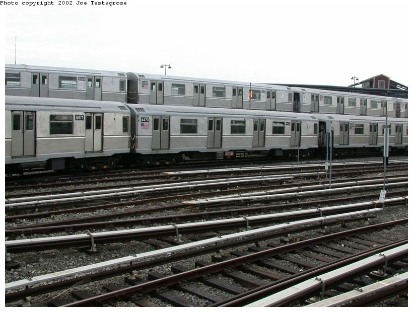 (131k, 820x620)<br><b>Country:</b> United States<br><b>City:</b> New York<br><b>System:</b> New York City Transit<br><b>Location:</b> East New York Yard/Shops<br><b>Car:</b> R-40M (St. Louis, 1969)  4470 <br><b>Photo by:</b> Joe Testagrose<br><b>Date:</b> 5/27/2002<br><b>Viewed (this week/total):</b> 0 / 4376