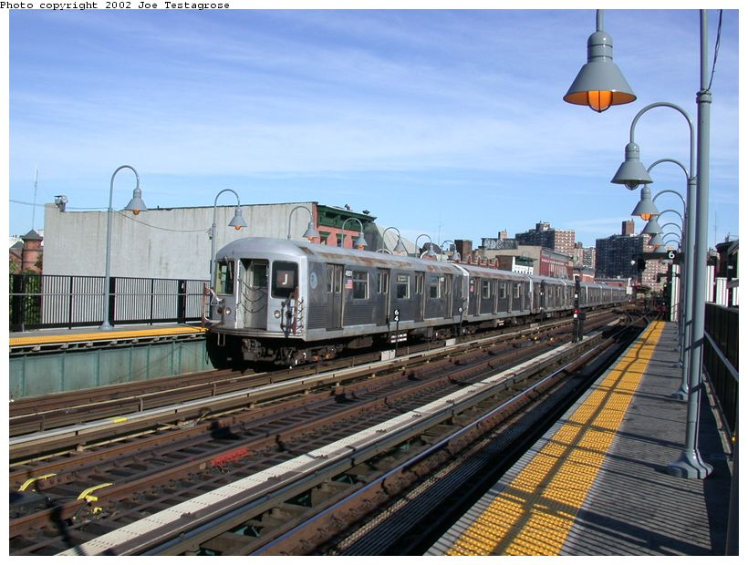 (135k, 820x620)<br><b>Country:</b> United States<br><b>City:</b> New York<br><b>System:</b> New York City Transit<br><b>Line:</b> BMT Nassau Street/Jamaica Line<br><b>Location:</b> Marcy Avenue <br><b>Route:</b> J<br><b>Car:</b> R-42 (St. Louis, 1969-1970)  4651 <br><b>Photo by:</b> Joe Testagrose<br><b>Date:</b> 9/22/2002<br><b>Viewed (this week/total):</b> 0 / 4052