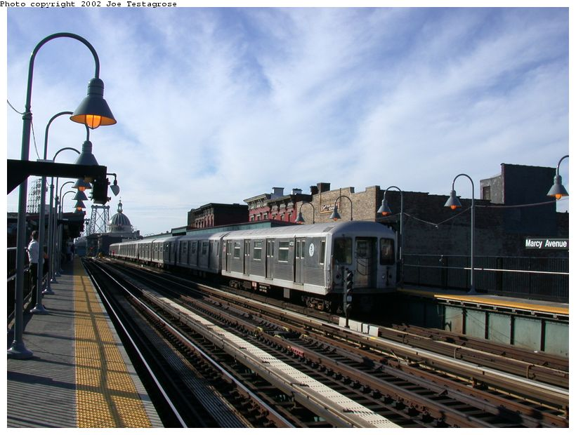 (125k, 820x620)<br><b>Country:</b> United States<br><b>City:</b> New York<br><b>System:</b> New York City Transit<br><b>Line:</b> BMT Nassau Street/Jamaica Line<br><b>Location:</b> Marcy Avenue <br><b>Route:</b> J<br><b>Car:</b> R-42 (St. Louis, 1969-1970)  4753 <br><b>Photo by:</b> Joe Testagrose<br><b>Date:</b> 9/22/2002<br><b>Viewed (this week/total):</b> 4 / 3445