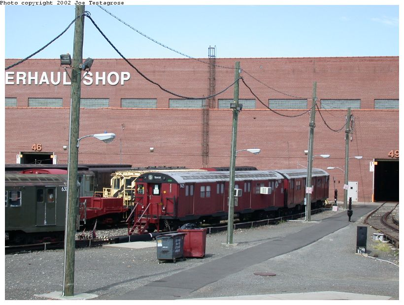 (132k, 820x620)<br><b>Country:</b> United States<br><b>City:</b> New York<br><b>System:</b> New York City Transit<br><b>Location:</b> Coney Island Yard-Training Facilities<br><b>Car:</b> R-30 (St. Louis, 1961) 8425 <br><b>Photo by:</b> Joe Testagrose<br><b>Date:</b> 9/22/2002<br><b>Viewed (this week/total):</b> 0 / 4890