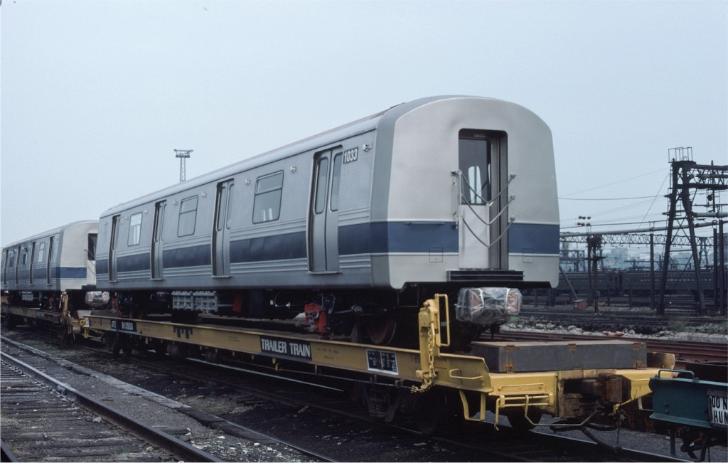 (135k, 1024x651)<br><b>Country:</b> United States<br><b>City:</b> Hoboken, NJ<br><b>System:</b> New York City Transit<br><b>Location:</b> Hoboken Yard <br><b>Car:</b> R-46 (Pullman-Standard, 1974-75) 1033 <br><b>Photo by:</b> Ed McKernan<br><b>Collection of:</b> Joe Testagrose<br><b>Date:</b> 5/21/1977<br><b>Viewed (this week/total):</b> 0 / 124