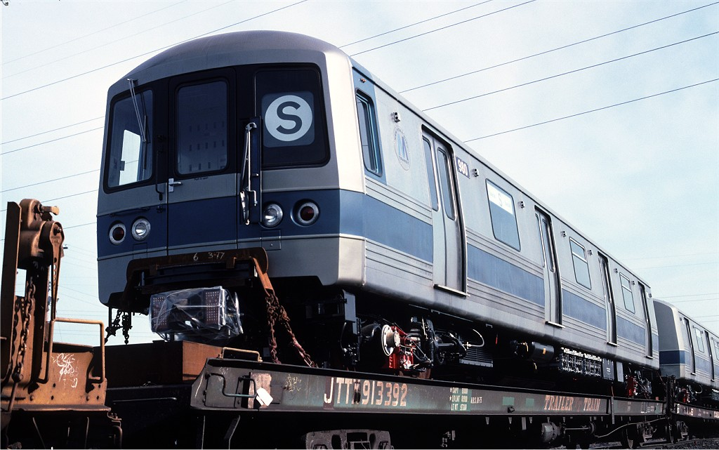 (170k, 1024x641)<br><b>Country:</b> United States<br><b>City:</b> Secaucus, NJ<br><b>System:</b> New York City Transit<br><b>Location:</b> Croxton Yard (NYCTA Equipment Delivery)<br><b>Car:</b> R-46 (Pullman-Standard, 1974-75) 980 <br><b>Photo by:</b> Ed McKernan<br><b>Collection of:</b> Joe Testagrose<br><b>Date:</b> 3/29/1977<br><b>Viewed (this week/total):</b> 2 / 181