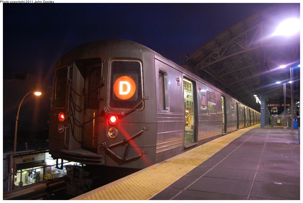 (246k, 1044x699)<br><b>Country:</b> United States<br><b>City:</b> New York<br><b>System:</b> New York City Transit<br><b>Location:</b> Coney Island/Stillwell Avenue<br><b>Route:</b> D<br><b>Car:</b> R-68 (Westinghouse-Amrail, 1986-1988)  2510 <br><b>Photo by:</b> John Dooley<br><b>Date:</b> 2/28/2011<br><b>Viewed (this week/total):</b> 0 / 398
