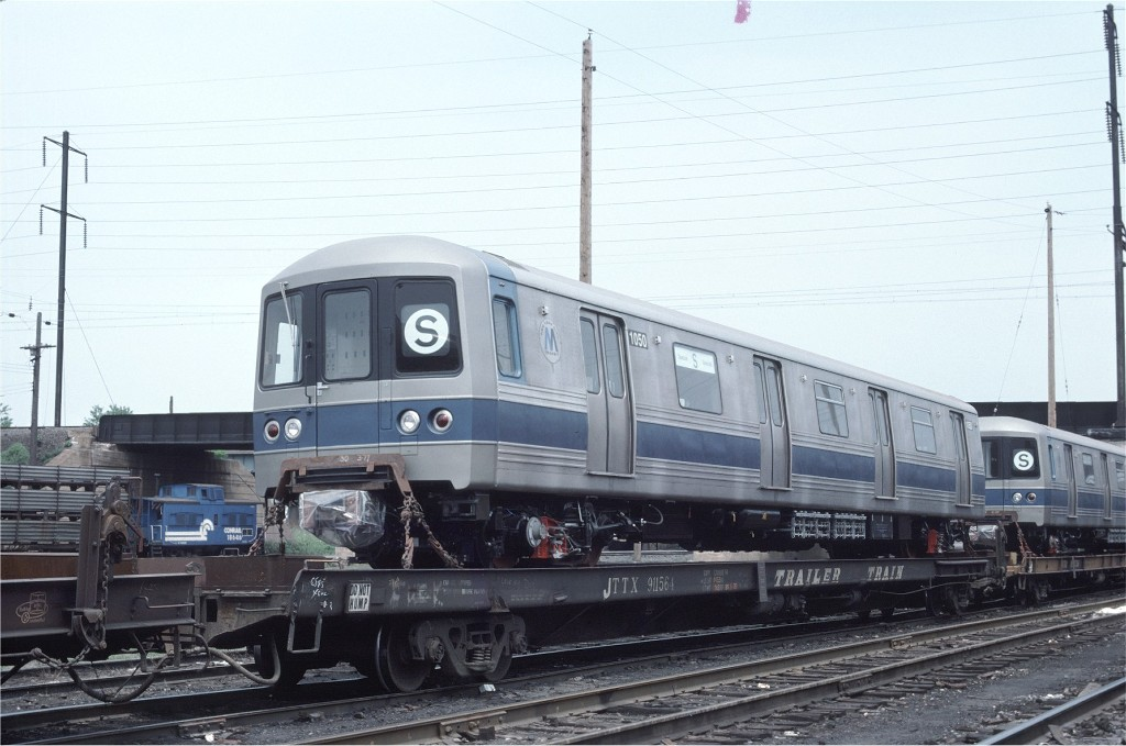 (164k, 1024x679)<br><b>Country:</b> United States<br><b>City:</b> Secaucus, NJ<br><b>System:</b> New York City Transit<br><b>Location:</b> Croxton Yard (NYCTA Equipment Delivery)<br><b>Car:</b> R-46 (Pullman-Standard, 1974-75) 1050 <br><b>Photo by:</b> Ed McKernan<br><b>Collection of:</b> Joe Testagrose<br><b>Date:</b> 6/5/1977<br><b>Viewed (this week/total):</b> 0 / 193