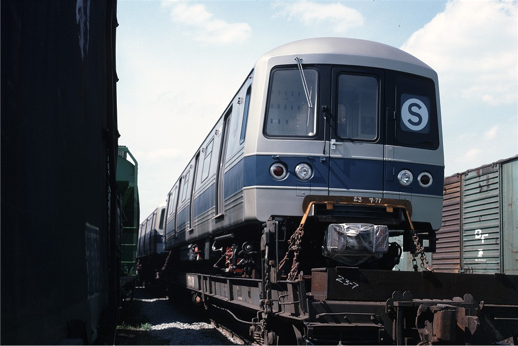 (161k, 1024x684)<br><b>Country:</b> United States<br><b>City:</b> Secaucus, NJ<br><b>System:</b> New York City Transit<br><b>Location:</b> Croxton Yard (NYCTA Equipment Delivery)<br><b>Car:</b> R-46 (Pullman-Standard, 1974-75) 1090 <br><b>Photo by:</b> Ed McKernan<br><b>Collection of:</b> Joe Testagrose<br><b>Date:</b> 7/24/1977<br><b>Viewed (this week/total):</b> 1 / 450