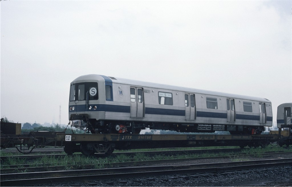 (118k, 1024x659)<br><b>Country:</b> United States<br><b>City:</b> Secaucus, NJ<br><b>System:</b> New York City Transit<br><b>Location:</b> Croxton Yard (NYCTA Equipment Delivery)<br><b>Car:</b> R-46 (Pullman-Standard, 1974-75) 1102 <br><b>Photo by:</b> Ed McKernan<br><b>Collection of:</b> Joe Testagrose<br><b>Date:</b> 8/3/1977<br><b>Viewed (this week/total):</b> 0 / 231