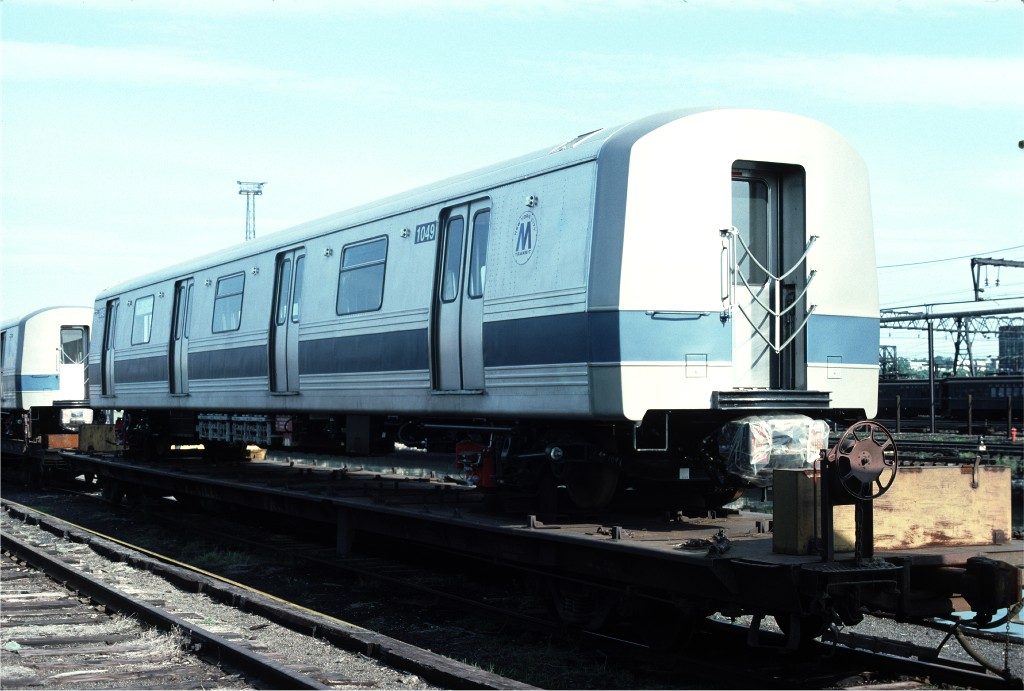 (158k, 1024x691)<br><b>Country:</b> United States<br><b>City:</b> Hoboken, NJ<br><b>System:</b> New York City Transit<br><b>Location:</b> Hoboken Yard <br><b>Car:</b> R-46 (Pullman-Standard, 1974-75) 1049 <br><b>Photo by:</b> Ed McKernan<br><b>Collection of:</b> Joe Testagrose<br><b>Date:</b> 6/13/1977<br><b>Viewed (this week/total):</b> 0 / 118
