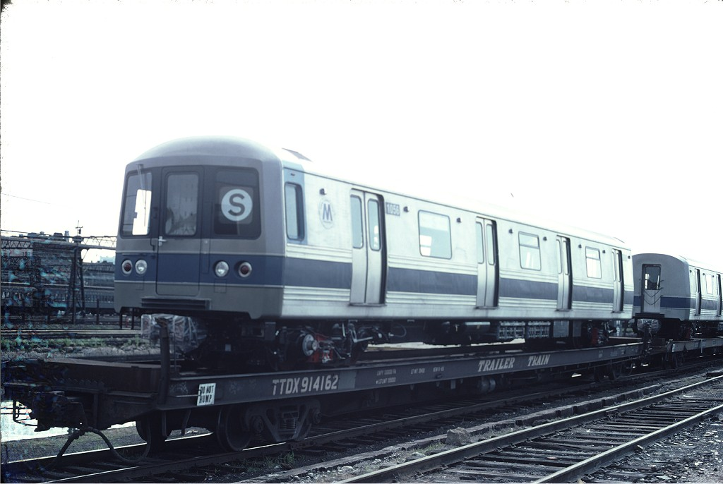 (132k, 1024x686)<br><b>Country:</b> United States<br><b>City:</b> Hoboken, NJ<br><b>System:</b> New York City Transit<br><b>Location:</b> Hoboken Yard <br><b>Car:</b> R-46 (Pullman-Standard, 1974-75) 1056 <br><b>Photo by:</b> Ed McKernan<br><b>Collection of:</b> Joe Testagrose<br><b>Date:</b> 6/13/1977<br><b>Viewed (this week/total):</b> 0 / 225