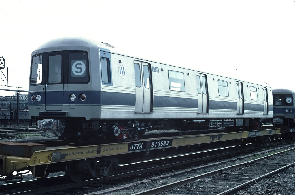 (151k, 1024x677)<br><b>Country:</b> United States<br><b>City:</b> Hoboken, NJ<br><b>System:</b> New York City Transit<br><b>Location:</b> Hoboken Yard <br><b>Car:</b> R-46 (Pullman-Standard, 1974-75) 1058 <br><b>Photo by:</b> Ed McKernan<br><b>Collection of:</b> Joe Testagrose<br><b>Date:</b> 6/13/1977<br><b>Viewed (this week/total):</b> 1 / 159