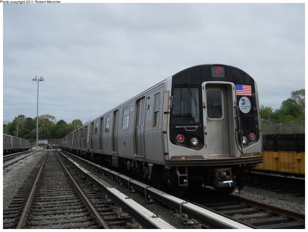 (301k, 1044x788)<br><b>Country:</b> United States<br><b>City:</b> New York<br><b>System:</b> New York City Transit<br><b>Location:</b> Jamaica Yard/Shops<br><b>Car:</b> R-160A (Option 1) (Alstom, 2008-2009, 5 car sets)  9233 <br><b>Photo by:</b> Robert Mencher<br><b>Date:</b> 5/11/2011<br><b>Viewed (this week/total):</b> 1 / 250