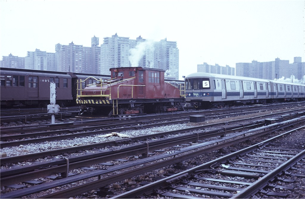 (201k, 1024x670)<br><b>Country:</b> United States<br><b>City:</b> New York<br><b>System:</b> New York City Transit<br><b>Location:</b> Coney Island Yard<br><b>Car:</b> SBK Steeplecab 6 <br><b>Photo by:</b> Steve Zabel<br><b>Collection of:</b> Joe Testagrose<br><b>Date:</b> 3/15/1973<br><b>Viewed (this week/total):</b> 2 / 321