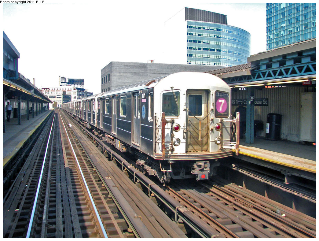 (445k, 1044x788)<br><b>Country:</b> United States<br><b>City:</b> New York<br><b>System:</b> New York City Transit<br><b>Line:</b> IRT Flushing Line<br><b>Location:</b> Court House Square/45th Road <br><b>Route:</b> 7<br><b>Car:</b> R-62A (Bombardier, 1984-1987)  1671 <br><b>Photo by:</b> Bill E.<br><b>Date:</b> 4/25/2011<br><b>Viewed (this week/total):</b> 0 / 358