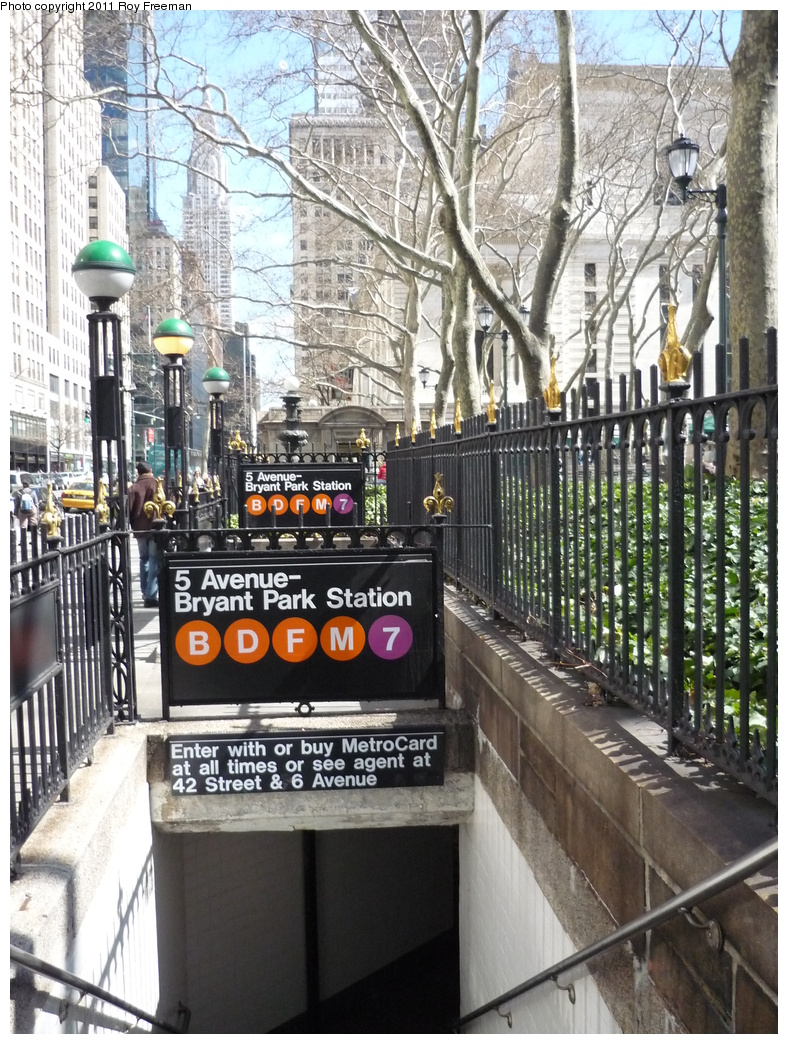 (440k, 788x1044)<br><b>Country:</b> United States<br><b>City:</b> New York<br><b>System:</b> New York City Transit<br><b>Line:</b> IRT Flushing Line<br><b>Location:</b> 5th Avenue <br><b>Photo by:</b> Roy Freeman<br><b>Date:</b> 4/3/2011<br><b>Notes:</b> Station entrance.<br><b>Viewed (this week/total):</b> 0 / 663