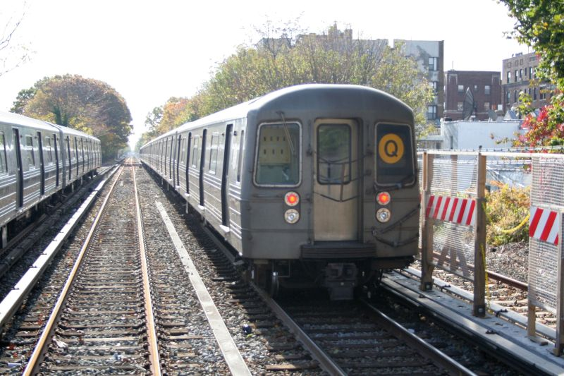 (116k, 800x533)<br><b>Country:</b> United States<br><b>City:</b> New York<br><b>System:</b> New York City Transit<br><b>Line:</b> BMT Brighton Line<br><b>Location:</b> Avenue J <br><b>Route:</b> Q<br><b>Car:</b> R-68 (Westinghouse-Amrail, 1986-1988)  2914 <br><b>Photo by:</b> Neil Feldman<br><b>Date:</b> 10/30/2009<br><b>Viewed (this week/total):</b> 1 / 207